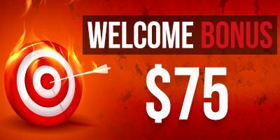 Welcome bonus в размере 75 usd для новых клиентов