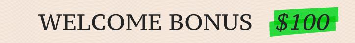 Welcome бонус 100 usd на форекс бесплатно
